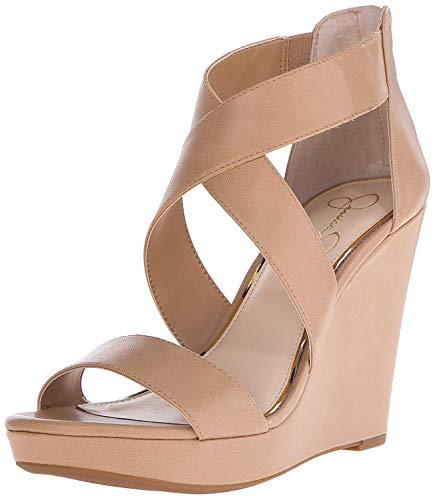 Jessica Simpson Women's Jinxxi Wedge Sandal, Ambra, 9 M US