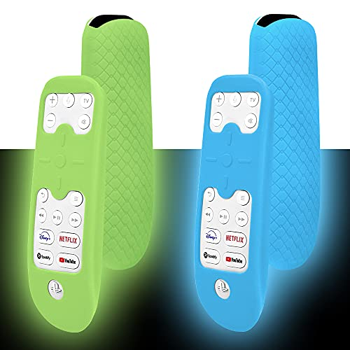 Silicone Protective Case Sleeve for PS5 Remote Control Skin Case, Anti-drop/Non-slip Protective Cover ,Glow in the Dark (Glow blue + Glow green )