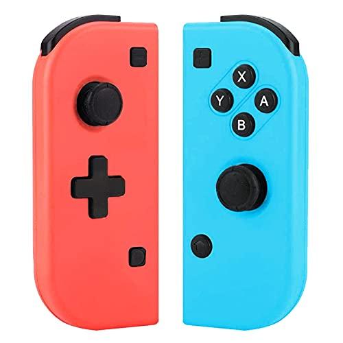 Controller per Switch, Wireless Rosso e Blu Controller Sostituzione, Bluetooth Gamepad Joystick Compatibile con Switch