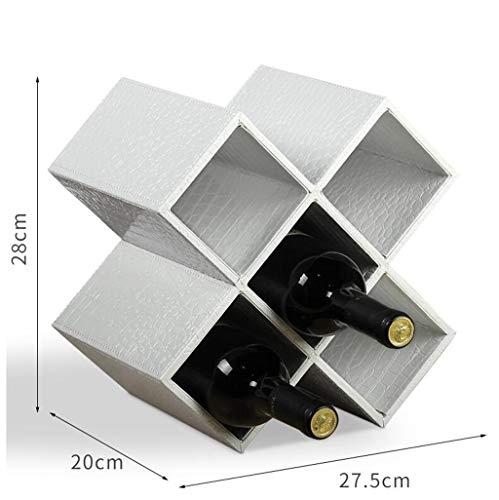 Porte bouteille Casier À Vin En Bois Massif Maison Créative Bouteille De Vin Armoire Décoration Rack Multi-grille Casier À Vin Étagère de rangement (Couleur : G, taille : 8 grid)