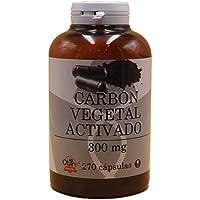 Carbon vegetal activado activo 300 mg Obire 270 capsulas mejora la disgestión, contra la acidez, para el mal aliento, para los gases, intoxicaciones