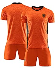 Heren voetbaltrui set, 2021 Europees Nederland thuis, fantruien, T-shirt sportkleding S-XXl