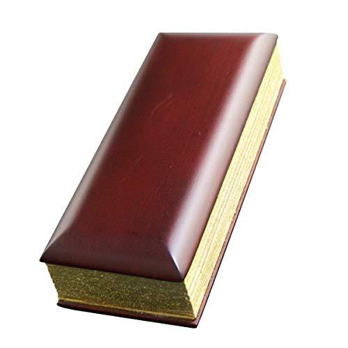 京仏壇はやし 過去帳 唐木( 紫檀 ) 5寸 日付入り ◆縦 約15cm 横 約6cm 厚み 約2.5cm