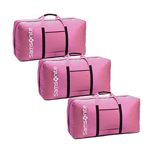 Samsonite Tote-A-Ton 32.5-Inch Duffel Bag, Bubble Gum Pink, 3-Pack