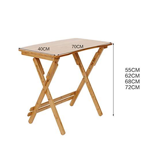 HCYTPL tafel voor laptop, bamboehout, inklapbare tafel, in hoogte verstelbaar, voor studenten en ontvangst