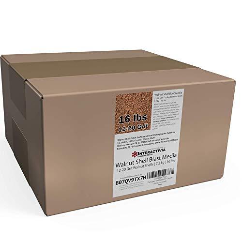 16 lbs or 7.2 kg Ground Walnut Shell Media 12-20 Grit - Medium Course Walnut Shells for Tumbling, Vibratory Or Blasting