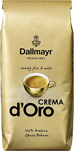 Dallmayr Crema d\'Oro SAMTIG, MILD & FEIN Kaffee Ganze Bohne 8er Pack (8x1000g) - Arabica