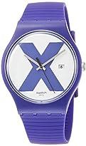 Swatch Unisex Erwachsene Analog Quarz Uhr mit Silikon Armband SUOV401