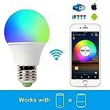 Smart-LED-Leuchtmittel mit WLAN-Funktion von VOBOT, mit Alexa und Google Home kompatibel, 4,5 W,...