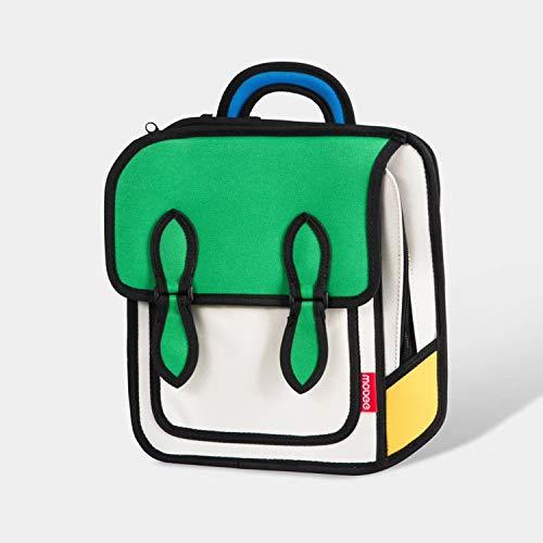 Upchenli Funny 3D Cartoon Mochila / 3D Drawing Bag Comic Vintage Mochila/Estudiante Femenina Laptop Bag,Green