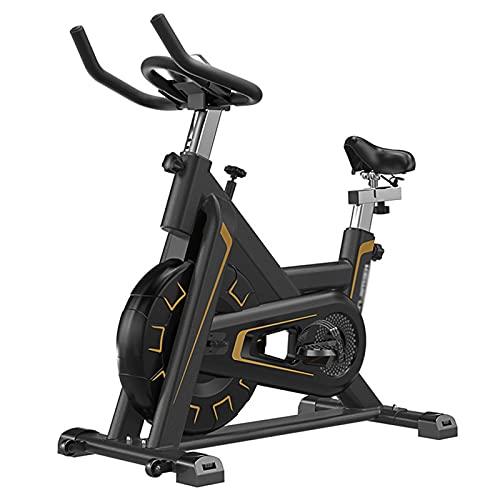 Spinning Bike Bicicleta Estática para El Hogar, Bicicleta De Spinning para Interiores Estacionaria con Resistencia Ajustable, Hombres Mujeres Fitness Ejercicio Aeróbico Bicicleta Estática, Negro