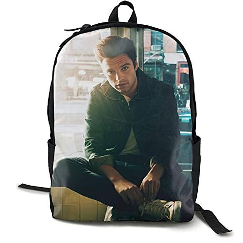Yaxinduobao mochila Sebastian Stan mochila Stylish Multifunctional mochila Portable School Work Vacation Trip Outdoor Activities