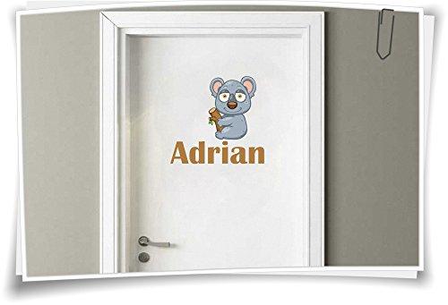 Deursticker kinderkamer sticker naam kindernaam wensnaam baby jongen meisje Koala Koalabär