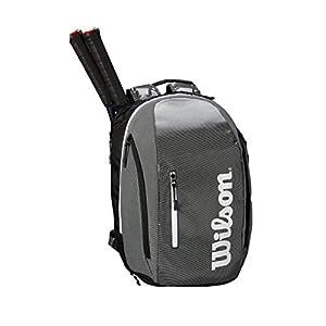 41PfHDBxVKL. SS300  - Wilson Mochila Super Tour Backpack Negro Blanco