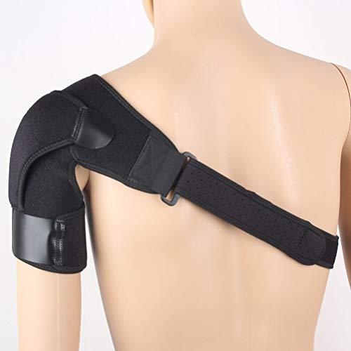 Milisten Schulterstütze Ärmel Verstellbare Kompression Schulterstütze Atmungsaktive Schultermanschette Ärmelwickel für Verstauchungen Belastungen Verletzungen nach Dem Rotator