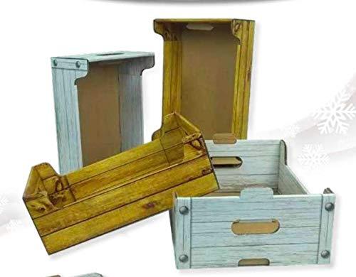 FAG ARTIGRAFICHE 1 PZ Cassetta Vuota Piccola col. Bianco 35.5 X 24 X 12.5 CM Cesto per Confezioni Natalizie