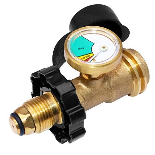 BIlinli Universal BBQ Gas Propan Manometer Tank RV RV Manometer Füllstandsanzeige Adapter Leckanzeiger Gasmessgeräte