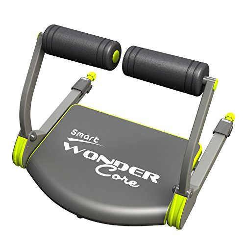 WONDER CORE Smart : Cardio+ Body Muscle Toning - Fitness Equipment - Muscles Building Exercises- Compact & Portable with Original Training App & Fitness Guide (Green) (9555)