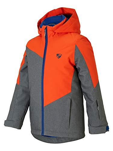 Ziener Jungen AVAN jun (jacket ski) Kinder Skijacke, Winterjacke/Wasserdicht, Winddicht, Warm, Grey stru, 152