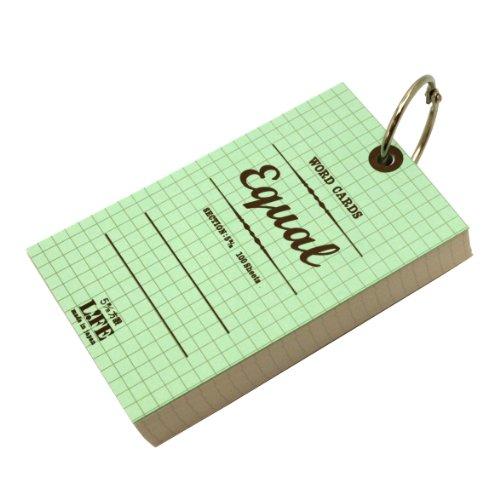 イコール単語カード5×3サイズ方眼【ミントグリーン】P317a