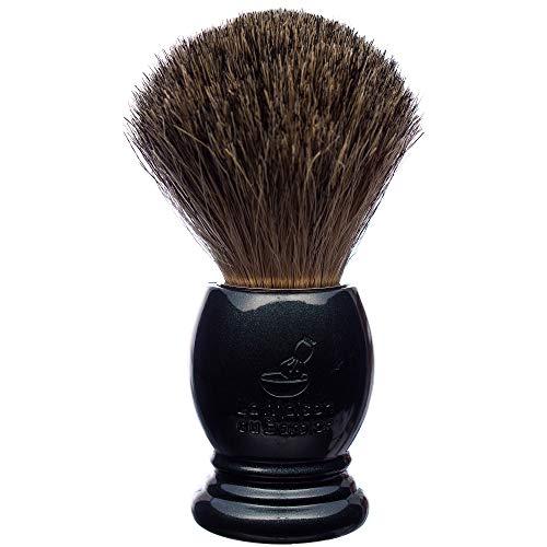 La Maison du Barbier Blaireau Gris Nacré - Poils Pur Gris Taille 12-100% Fabriqué en France
