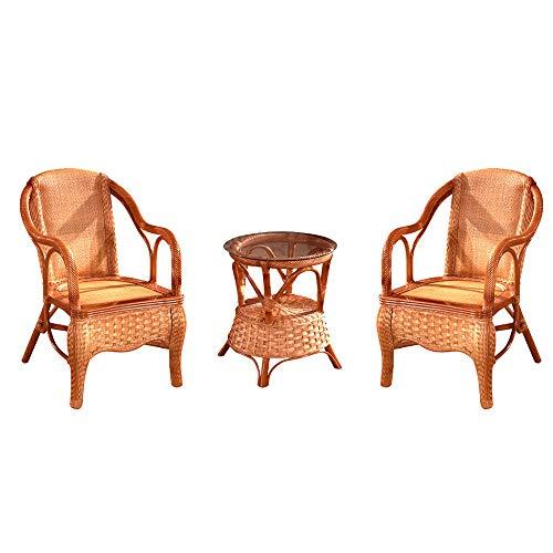 NVBXDF Furniture Set – Balcony Furniture - Lounge Furniture Terrace - Garden Furniture - Table Set Balcony Lounge Set 2x Chairsrattan And 1x Table Rattan Garden