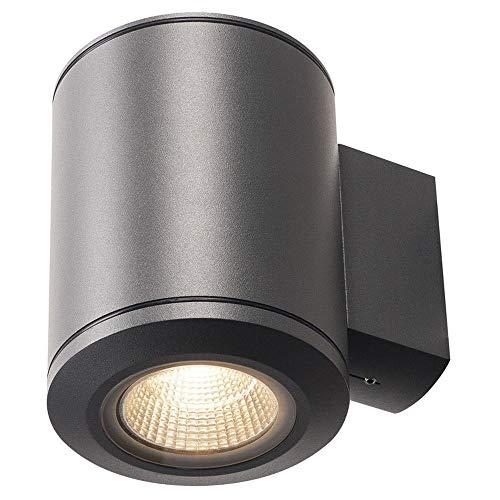 SLV POLE PARC Leuchte Outdoor-Lampe Aluminium/Glas Schwarz Lampe außen, Aussen-Lampe