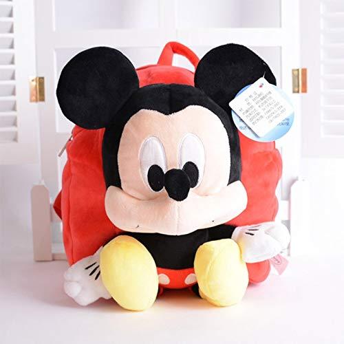 Juguetes Disney Peluche Infantil Bebé Mochila Mickey Mouse Minnie Bag Donald Pato Stitch Winnie The Pooh Boy Girl Kindergarten Schoolbag (Color : H)