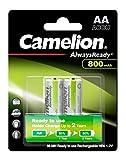 Mobile Energie - 2 Batterien der Baugröße AA, Mignon zur Stromversorgung kleiner, meist tragbarer Geräte zuhause, unterwegs und am Arbeitsplatz Schnellladefähige Akkus mit langer Lebensdauer (bis zu 1.000 Ladungen / Entladungen möglich), geringer Sel...