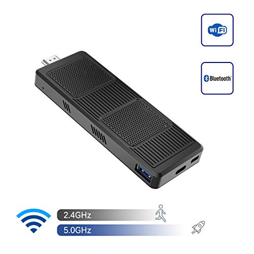 Mini PC Stick Intel Celeron N4120 (bis zu 2,6 GHz) 4 GB DDR4/64 GB eMMC Mini Computer Windows 10 4K@60Hz HD HDMI 2.0 und Mini DP Dual WiFi BT 5.0/2xUSB3.0/USB-C/Auto Power On