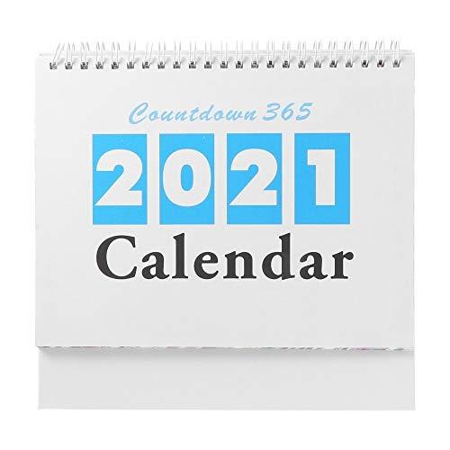 VVAN Skrivbordskalender 1 st 2021 nedräkning skrivbordskalender innehållsrik speciell ny skrivbordskalender för studier kontor sovrum bordskalender (färg: Blandade färger)