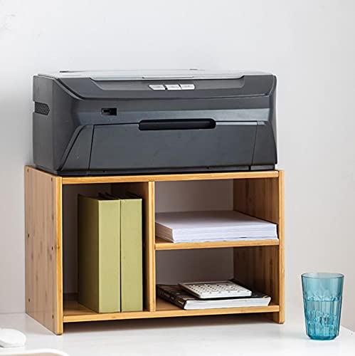 Estante para impresora con escritorio de almacenamiento Soporte multifuncional para equipo de oficina Soporte para impresora pequeño utilizado para máquina de fax Escáner Suministros de oficina,B