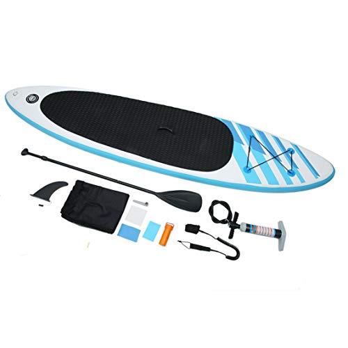 GET 320cm Länge Erwachsene Outdoor Funny Surfboard Stand Up Aufblasbares Surfbrett Universal Paddleboard Paddle Pump Set - Blau