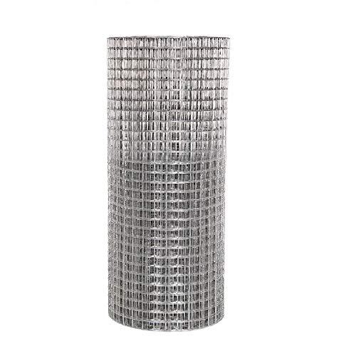 Clôture en treillis soudé galvanisé, 2,5 x 2,5 cm, pour volière, poules, lapin, 0.9*30M