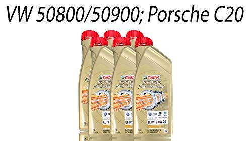 TSI Motoren: Castrol 0W20 Titanium Motoröl für den Ölwechsel am VW Passat B8
