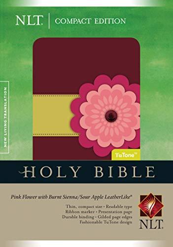 Holy Bible: New Living Translation, Pink Flower/Burnt Sienna/Sour Apple, TuTone