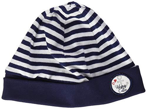 SALT AND PEPPER Gestreift Badge mit Anker Herz Motiv Bonnet, Bleu (Navy 498), 47 Bébé Fille