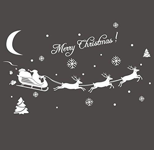 Covermason Noël décoration autocollant fenêtre Stickers décoration