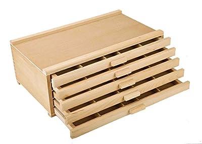 Vencer Wood Art Storage Box Pencil, Pen, Pastel, Marker Set