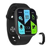2021 FK99 PRO Orologio Smart Watch Schermo 1.75' Due Cinturini Gomma + Nylon con Velcro 3 Stili...