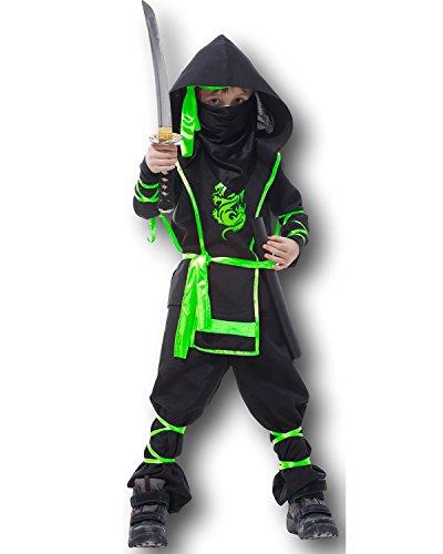 bambini Arti Marziali Ninja Costume Cobra Dragon Ninja Combattente Evo 4-12 - Dorato, 4-6 years