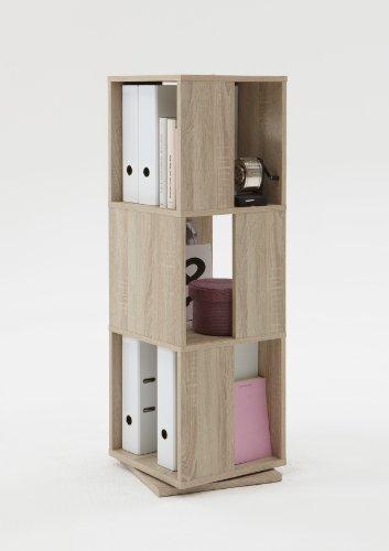 FMD furniture 291-001E, Estante Giratorio, imitación de Roble, Dimensiones Aprox. 34 x 108 x 34 cm (BHT), aglomerado Recubierto de Resina de melamina.