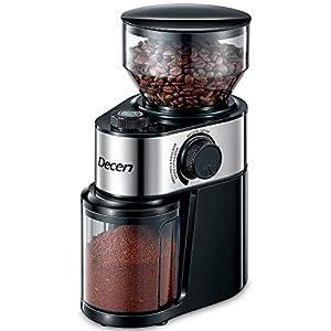 Molinillos de Cafe Electricos, Decen Molinillo de Cafe Eléctrico con Sistema de Molienda de Un Solo Toque, Espesor Controlable, 14 Tazas y 250g Capacidad, libre de BPA, 200W
