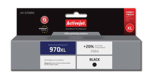 Activejet AH-970BRX Refill voor HP 970XL CN625, 240 ml