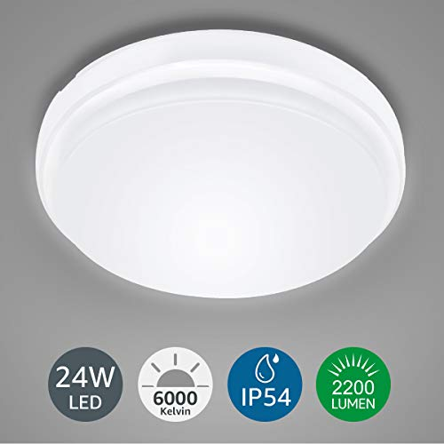 LE Plafón LED Lámpara de Techo 24W Equivalente a 200W Resi