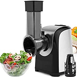 in budget affordable Flyerstoy Professional Salad Maker Electric Slicer / Shredder, One Touch Control and 4 Free…