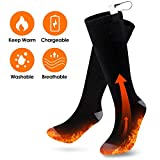 Heated Socks, 3 Heating Settings Rechargeable Battery Thermal Sock Winter Warm Electric Cotton Socks for Men and Women, Outdoor Indoor Camping/Fishing/Cycling/Motorcycling/Skiing