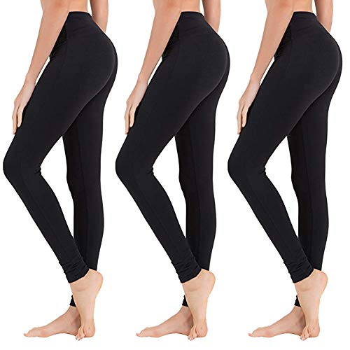 SYRINX High Waisted Leggings for Women - Buttery Soft Tummy Control Pants for Yoga Workout Running