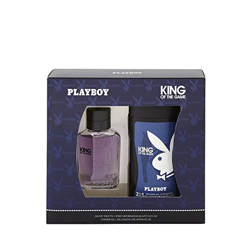 Corine de Farme - Coffret Playboy King Of The Game - Coffret Cadeau pour Homme - Eau de Toilette 60 ml et Gel Douche 2 en 1 250 ml - Parfum Oriental Frais