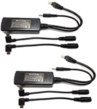 PoE Splitter Power Packs - Two 802.3af Poe Splitter for iPads and Tablets, Remote USB Power Over Ethernet, Use with PoE Switches, 5 Volts 10 Watts Output (2 x MicroUSB)